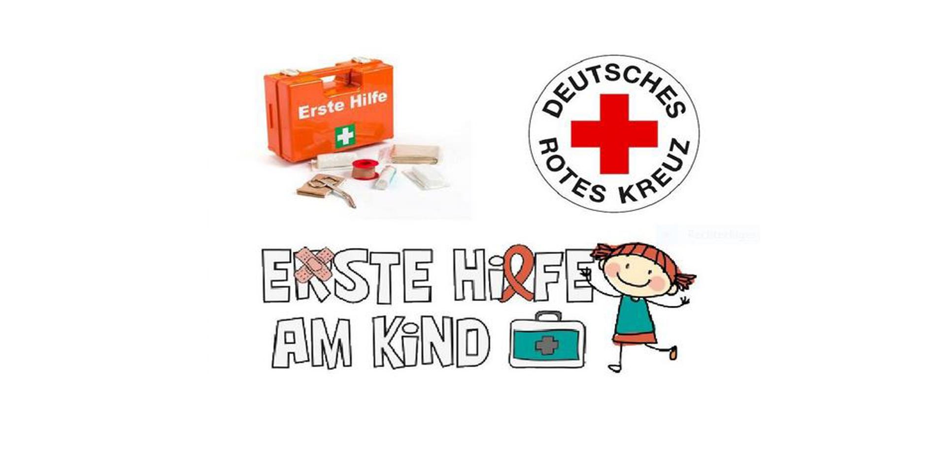 Erste Hilfe am Kind - unterstützt vom EV und dem Roten Kreuz