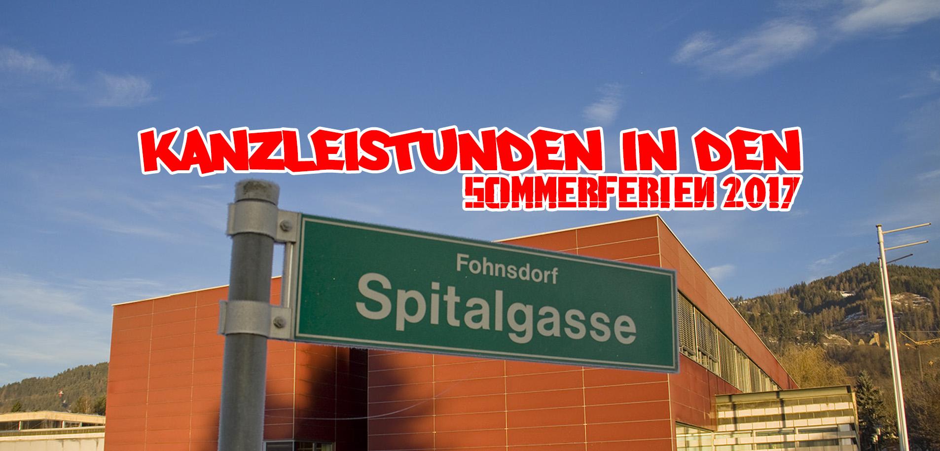 Kanzleistunden VS Fohnsdorf Ferien 2017