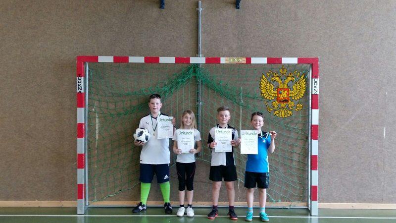 Sieger der Fussball EM der 3. udn 4. Klassen Team Russia